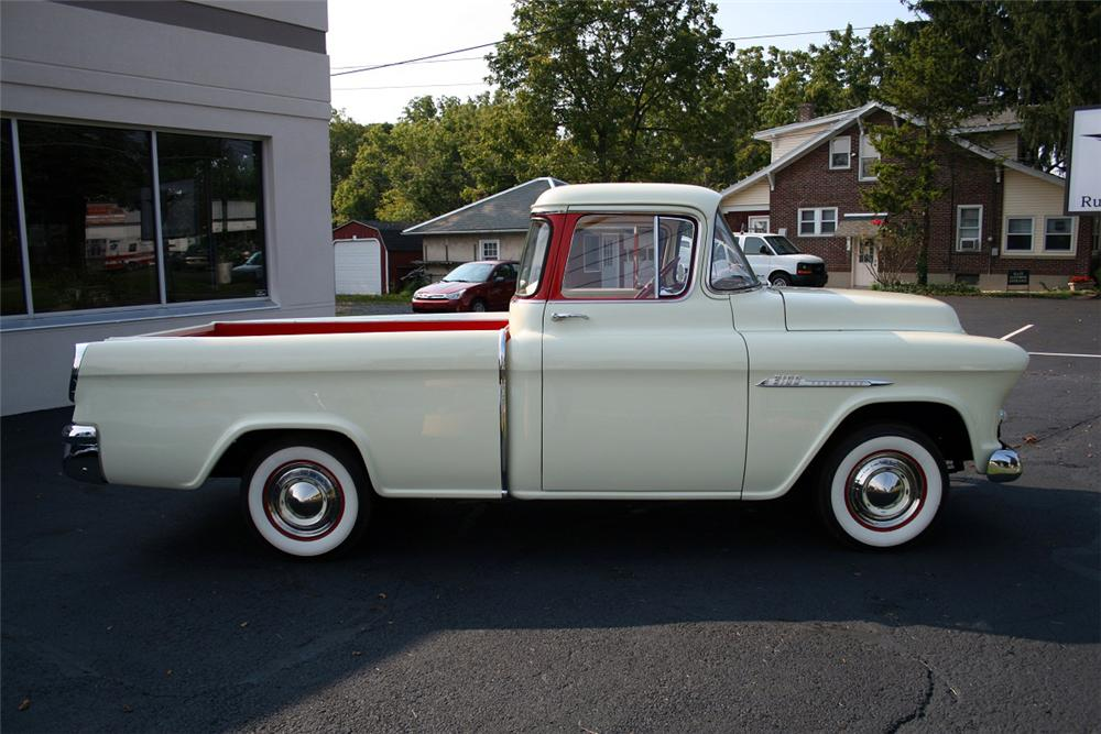 1955 CHEVROLET CAMEO PICKUP - Side Profile - 138112