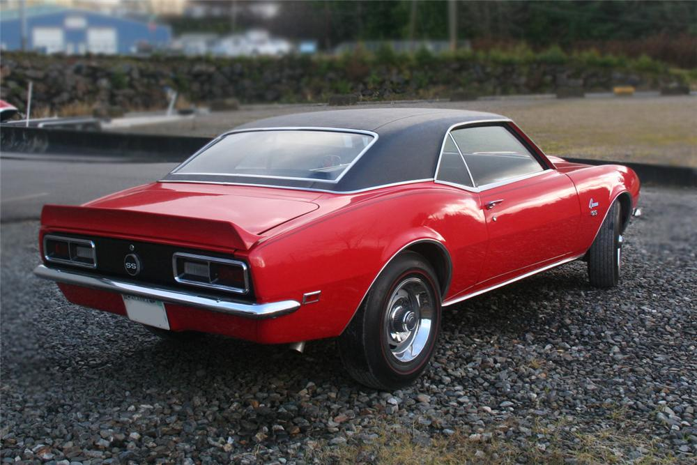 1968 CHEVROLET CAMARO 2 DOOR COUPE - Rear 3/4 - 138117