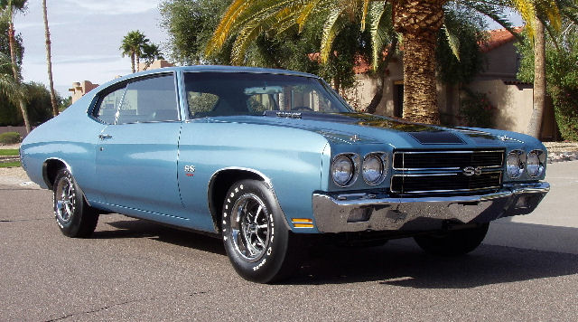 1970 CHEVROLET CHEVELLE SS LS5 2 DOOR COUPE - Side Profile - 138124