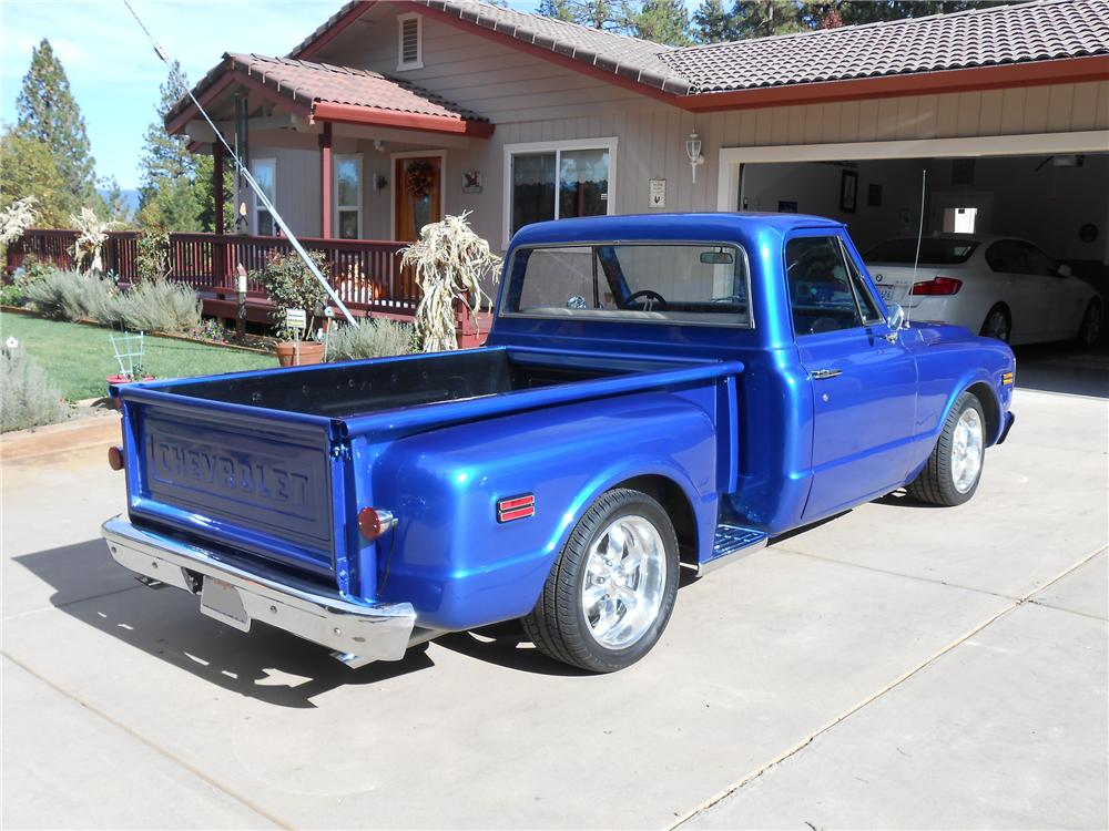 1968 CHEVROLET CUSTOM PICKUP - Rear 3/4 - 138128