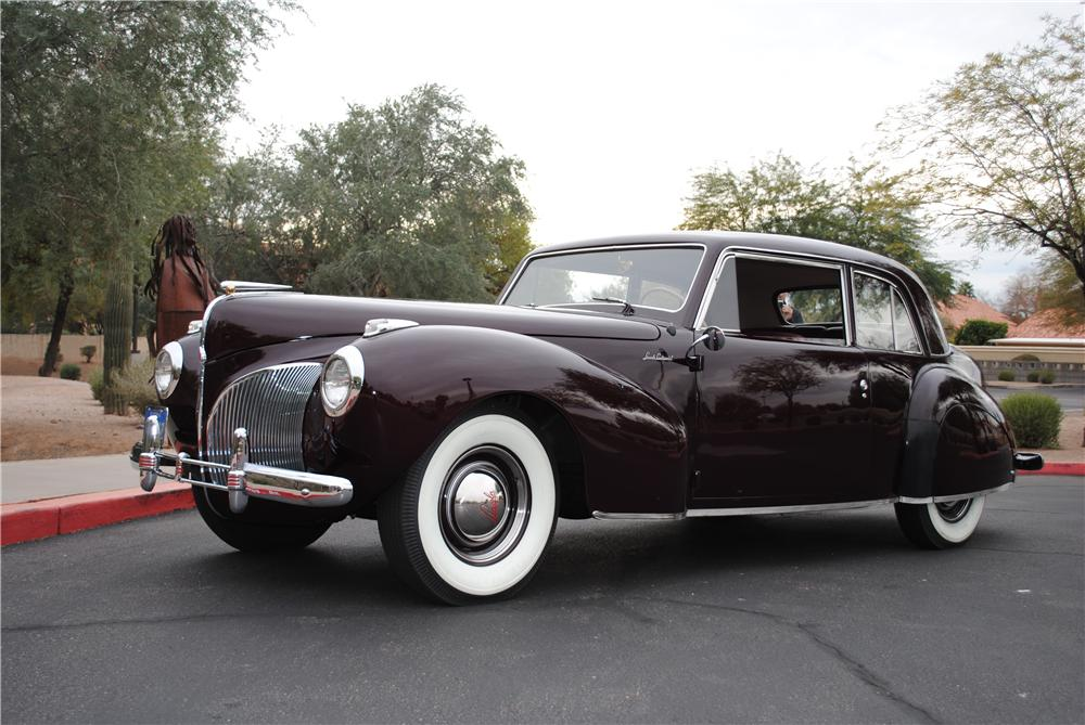 1941 LINCOLN CONTINENTAL 2 DOOR COUPE - Front 3/4 - 138131
