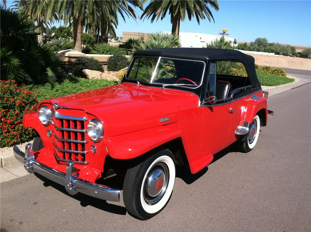 1950 WILLYS JEEPSTER CONVERTIBLE - Front 3/4 - 138139