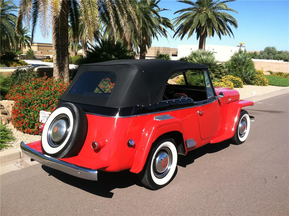 1950 WILLYS JEEPSTER CONVERTIBLE - Rear 3/4 - 138139