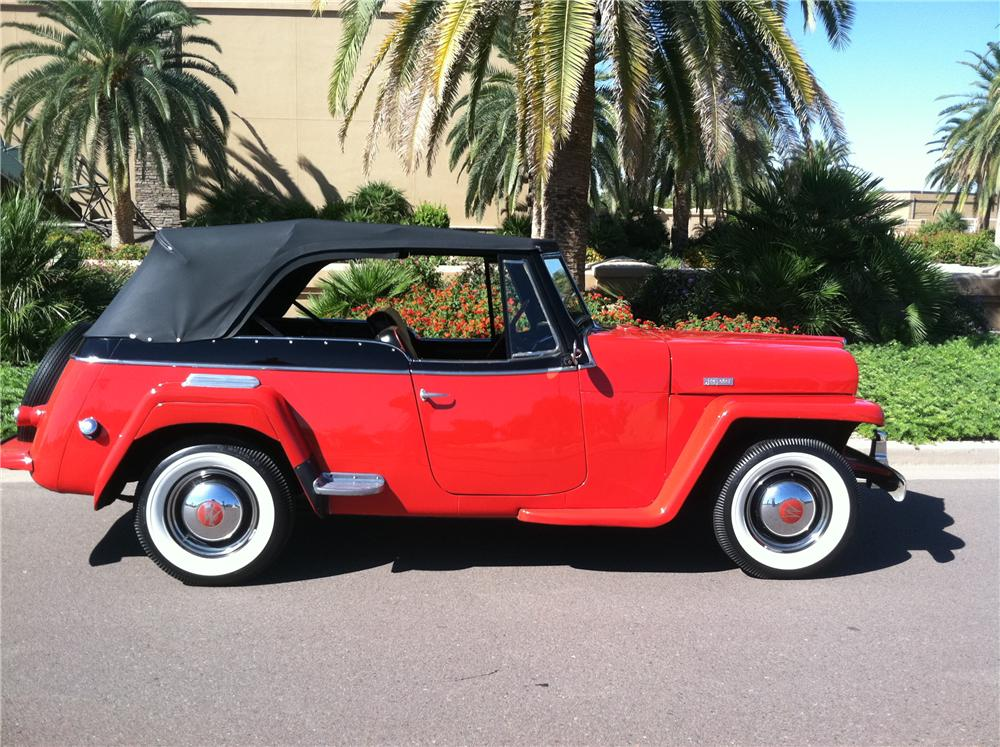 1950 WILLYS JEEPSTER CONVERTIBLE - Side Profile - 138139