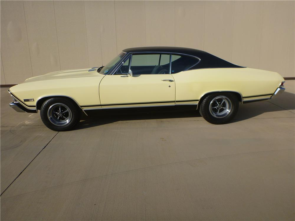 1968 CHEVROLET CHEVELLE SS 396 2 DOOR HARDTOP - Side Profile - 138160