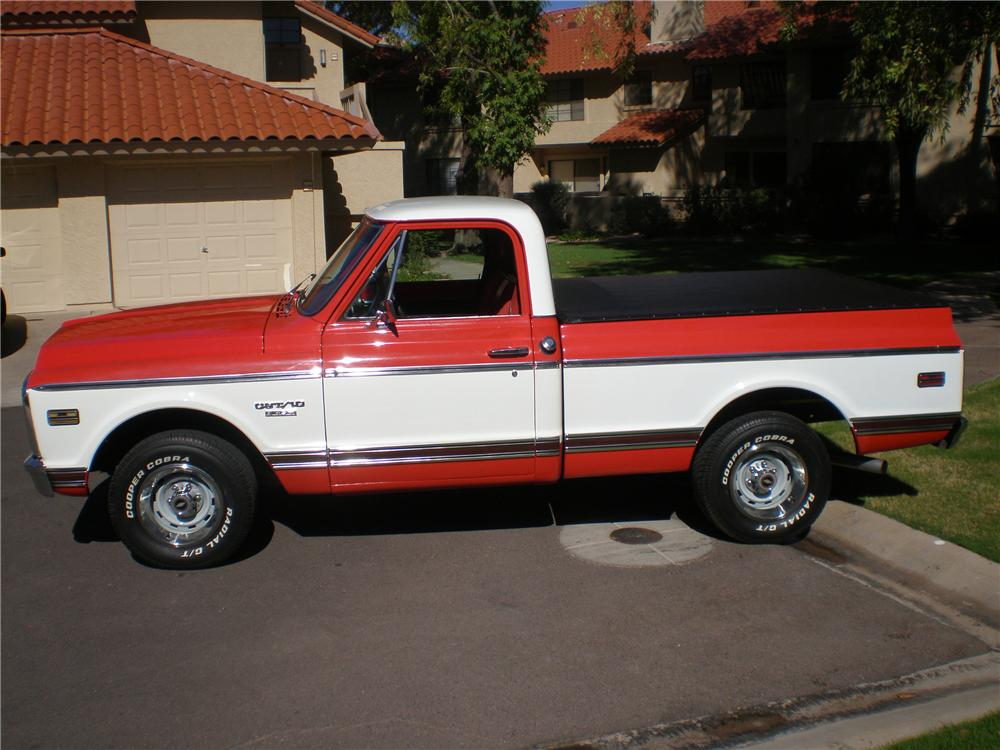 1969 CHEVROLET SHORT BED CUSTOM  PICKUP - Side Profile - 138167