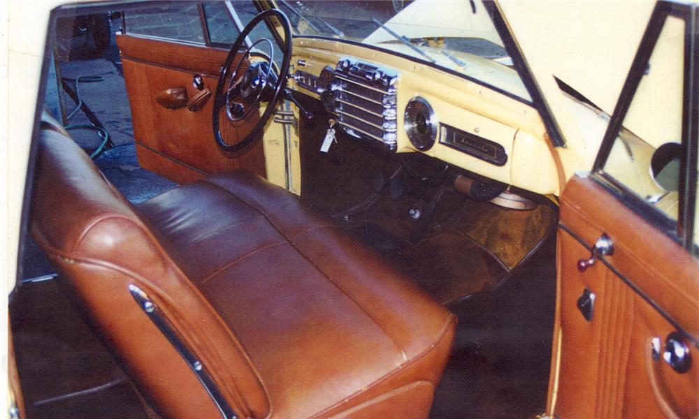 1948 LINCOLN CONTINENTAL CONVERTIBLE - Interior - 138170