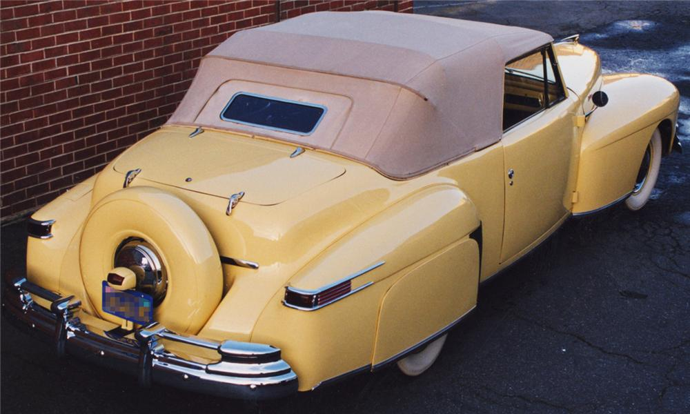 1948 LINCOLN CONTINENTAL CONVERTIBLE - Rear 3/4 - 138170