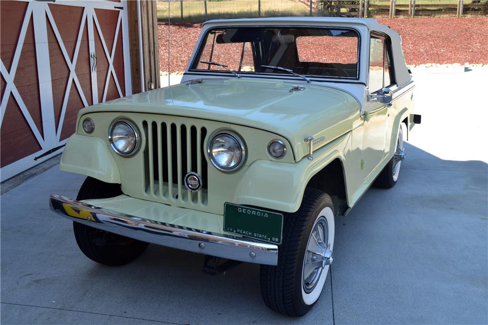 1967 WILLYS JEEPSTER CONVERTIBLE - Front 3/4 - 138173