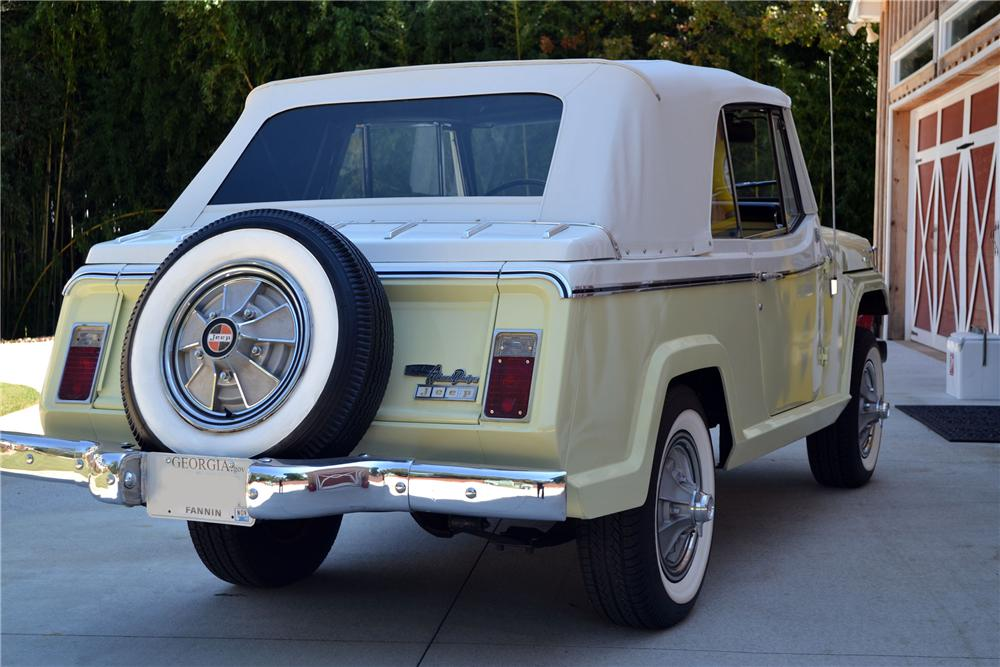 1967 WILLYS JEEPSTER CONVERTIBLE - Rear 3/4 - 138173