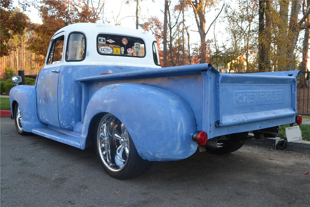 1949 CHEVROLET 5 WINDOW CUSTOM PICKUP - Rear 3/4 - 138175
