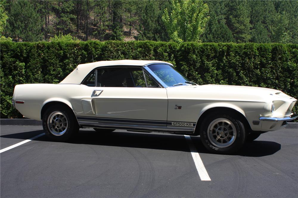 1968 SHELBY GT500 KR CONVERTIBLE - Side Profile - 138176