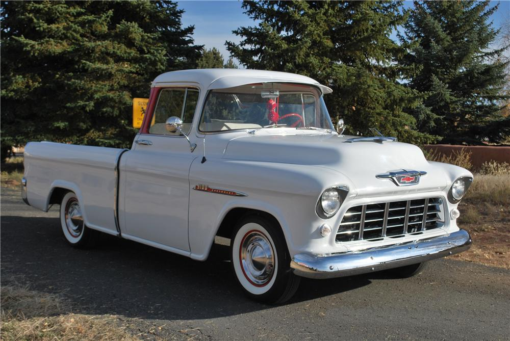 1955 CHEVROLET CAMEO PICKUP - Front 3/4 - 138179