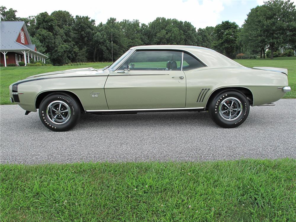 1969 CHEVROLET CAMARO 2 DOOR HARDTOP - Side Profile - 138189