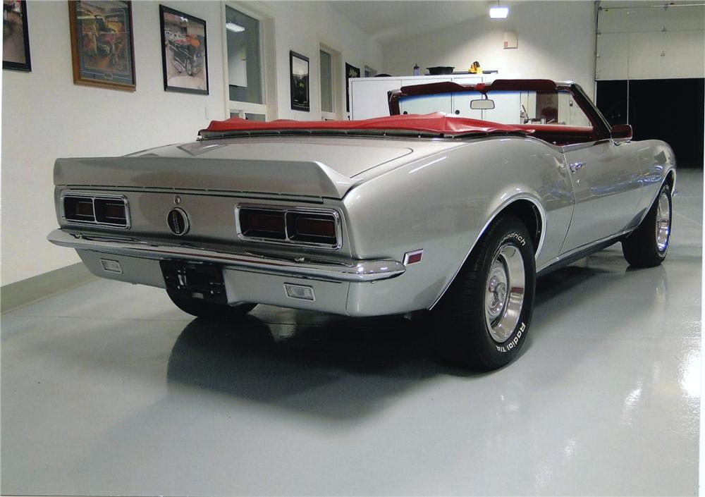 1968 CHEVROLET CAMARO RS CONVERTIBLE - Rear 3/4 - 138205