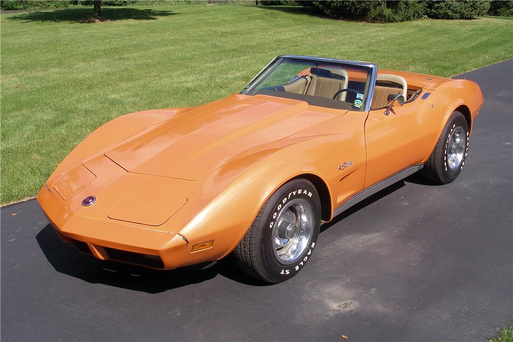 1974 CHEVROLET CORVETTE CONVERTIBLE - Front 3/4 - 138210