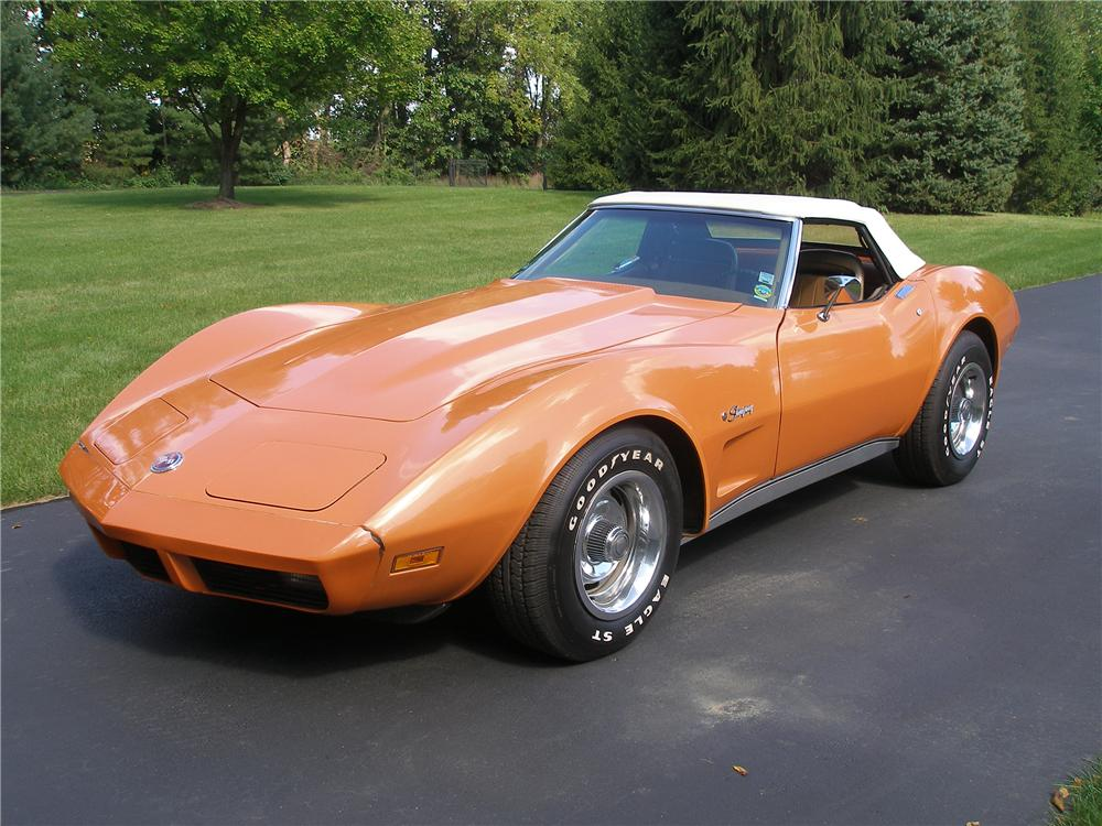 1974 CHEVROLET CORVETTE CONVERTIBLE - Side Profile - 138210