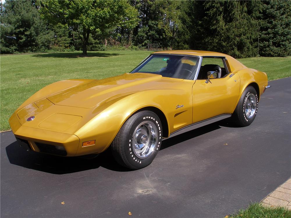 1973 CHEVROLET CORVETTE 2 DOOR COUPE - Side Profile - 138211