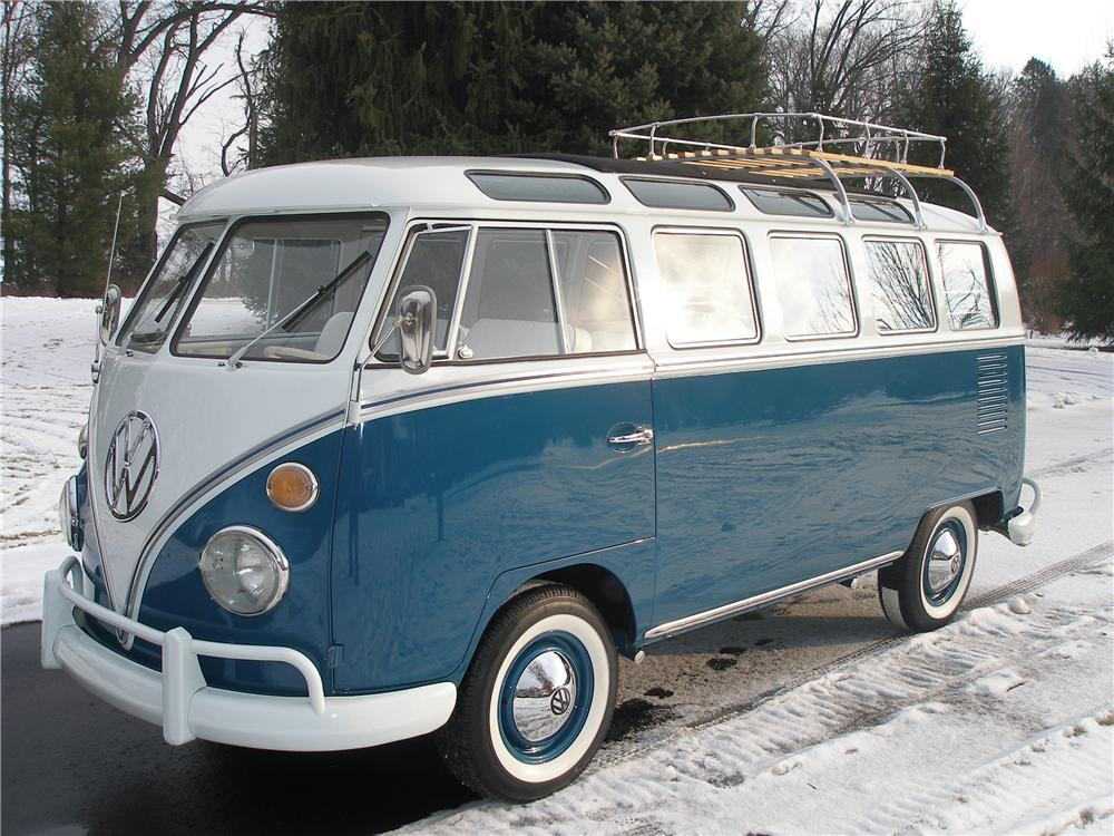 1966 volkswagen 21 window deluxe bus 138220