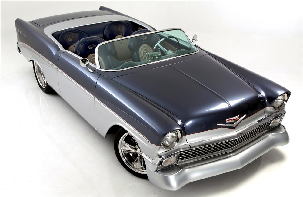 1956 CHEVROLET BEL AIR CUSTOM SPEEDSTER - Front 3/4 - 138246