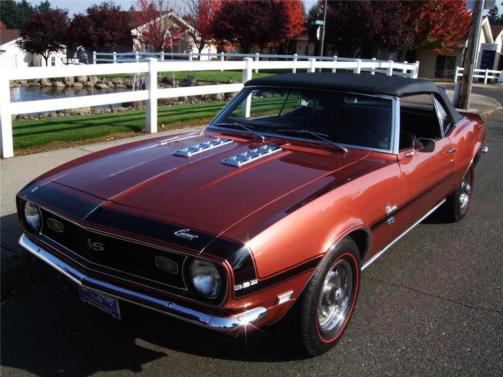 1968 chevrolet camaro ss convertible 138248. Black Bedroom Furniture Sets. Home Design Ideas