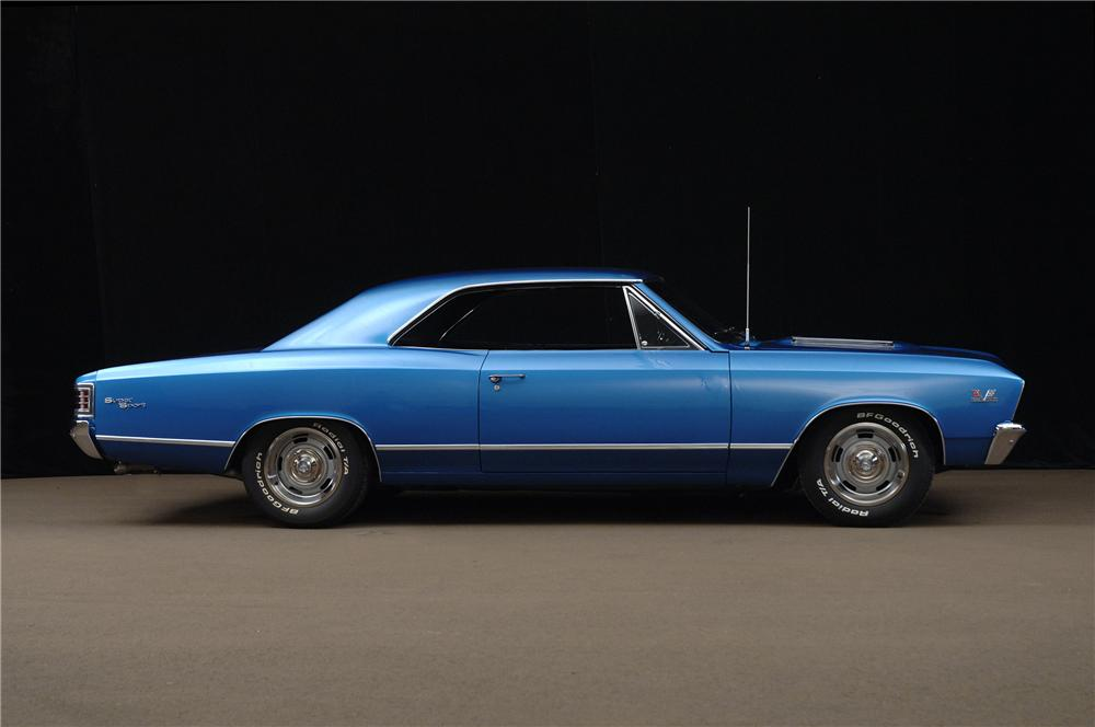 1967 CHEVROLET CHEVELLE HARDTOP - Side Profile - 138260