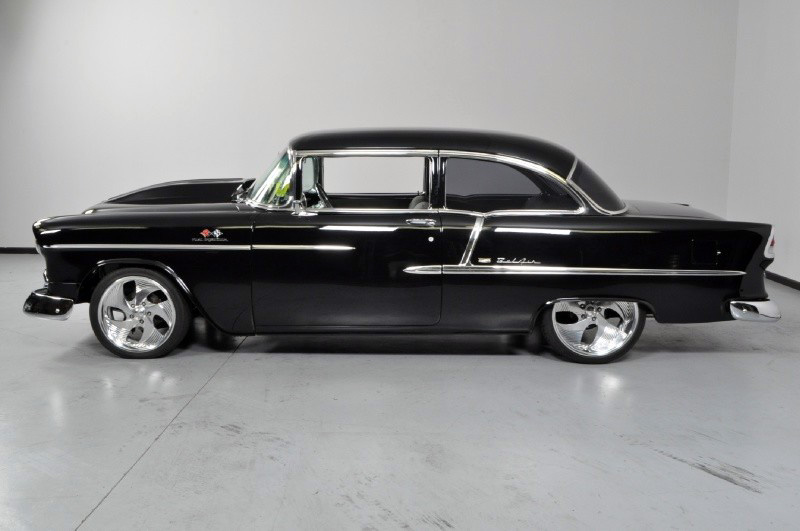 1955 CHEVROLET BEL AIR CUSTOM 2 DOOR COUPE - Side Profile - 138270