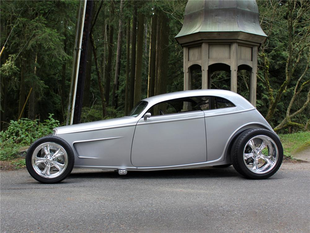 1933 FORD SPEEDSTAR CUSTOM 2 DOOR COUPE - Side Profile - 138275