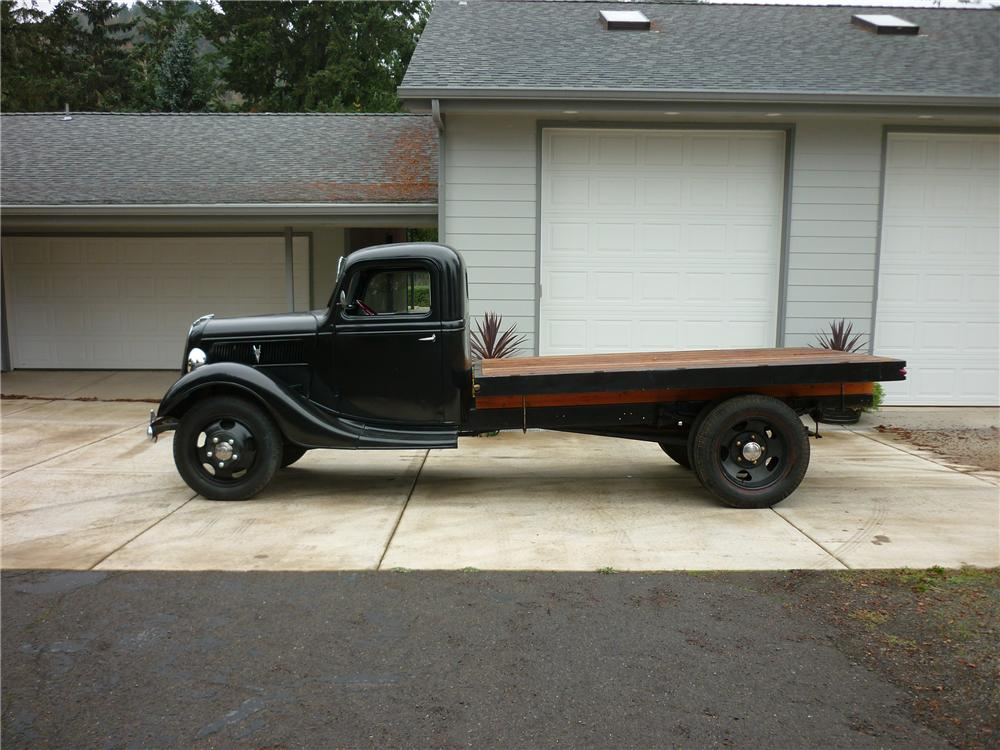 1937 FORD CUSTOM FLATBED TRUCK - Side Profile - 138289