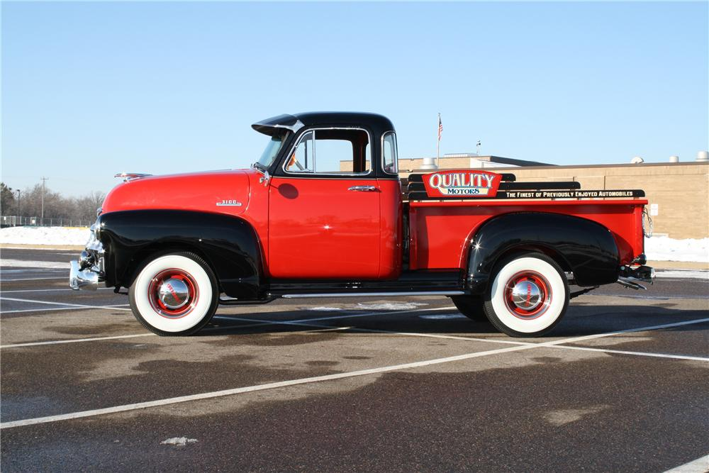 1954 CHEVROLET 3100 PICKUP - Side Profile - 138290
