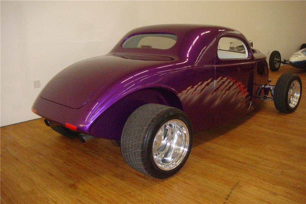 1937 FORD 3 WINDOW CUSTOM 2 DOOR COUPE - Rear 3/4 - 138299
