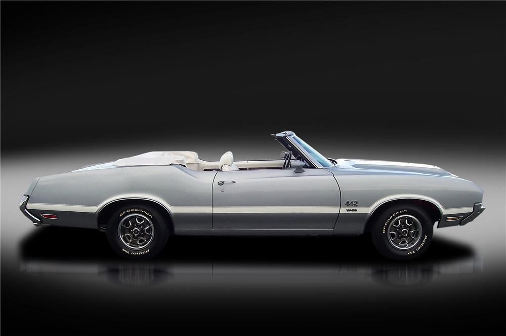 1971 OLDSMOBILE 442 W30 CONVERTIBLE - Side Profile - 138305