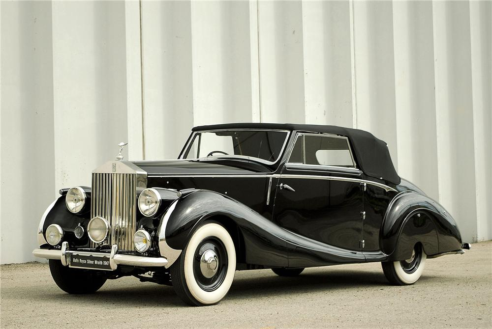1947 ROLLS-ROYCE SILVER WRAITH DROPHEAD COUPE - Front 3/4 - 138308