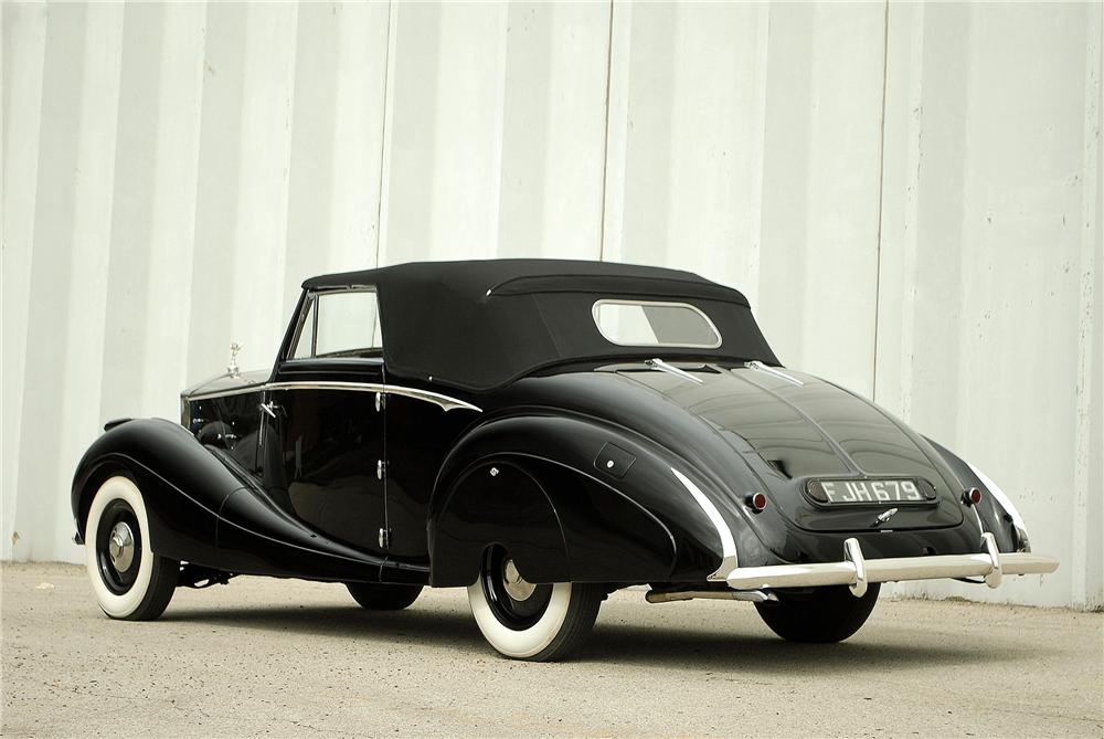 1947 ROLLS-ROYCE SILVER WRAITH DROPHEAD COUPE - Rear 3/4 - 138308
