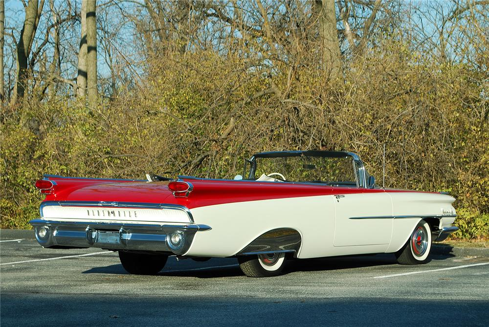 1959 OLDSMOBILE SUPER 88 CONVERTIBLE - Rear 3/4 - 138309