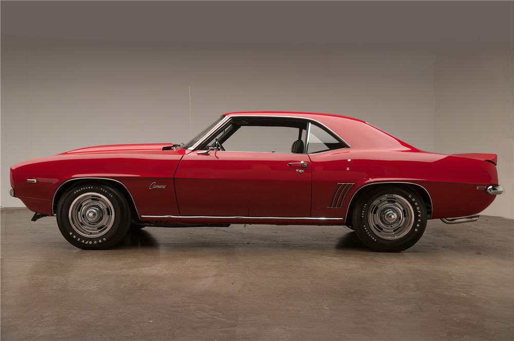 1969 CHEVROLET CAMARO COPO RE-CREATION COUPE - Side Profile - 138332