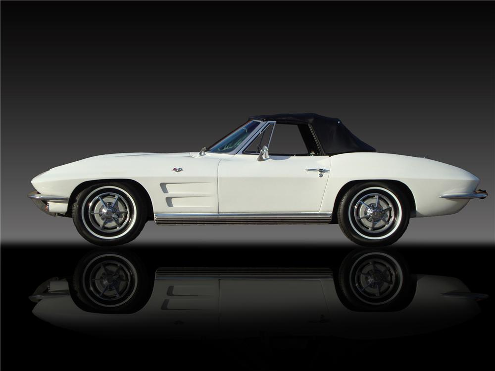 1963 CHEVROLET CORVETTE CONVERTIBLE - Side Profile - 138343
