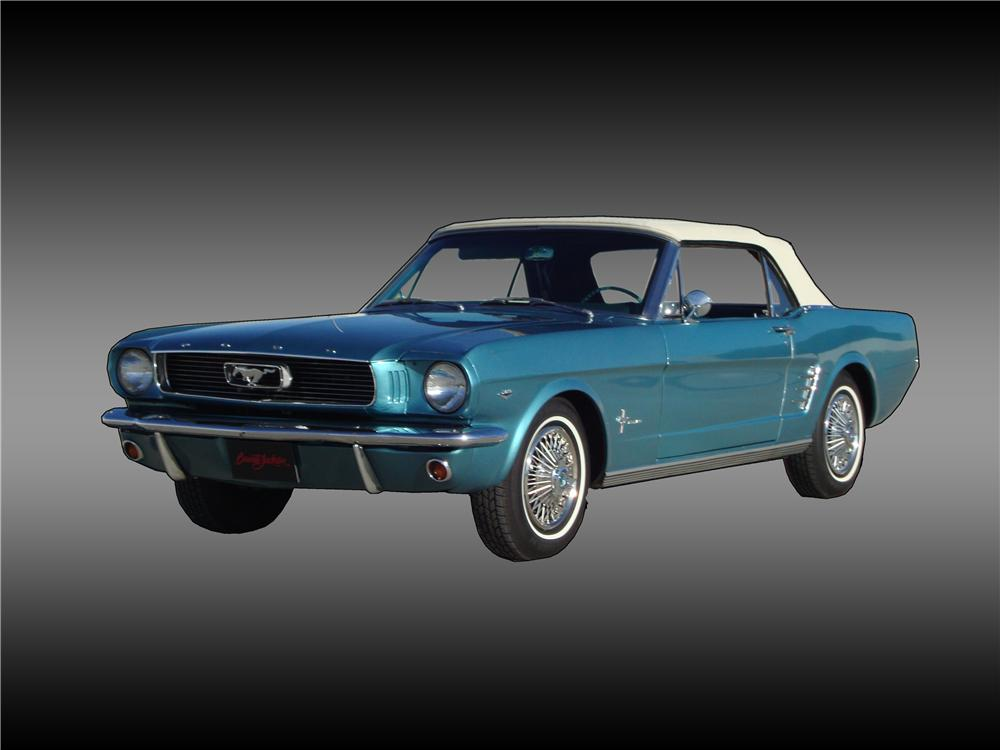 1966 FORD MUSTANG CONVERTIBLE - Front 3/4 - 138346