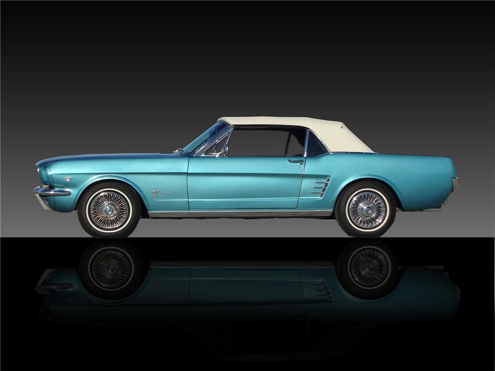 1966 FORD MUSTANG CONVERTIBLE - Side Profile - 138346