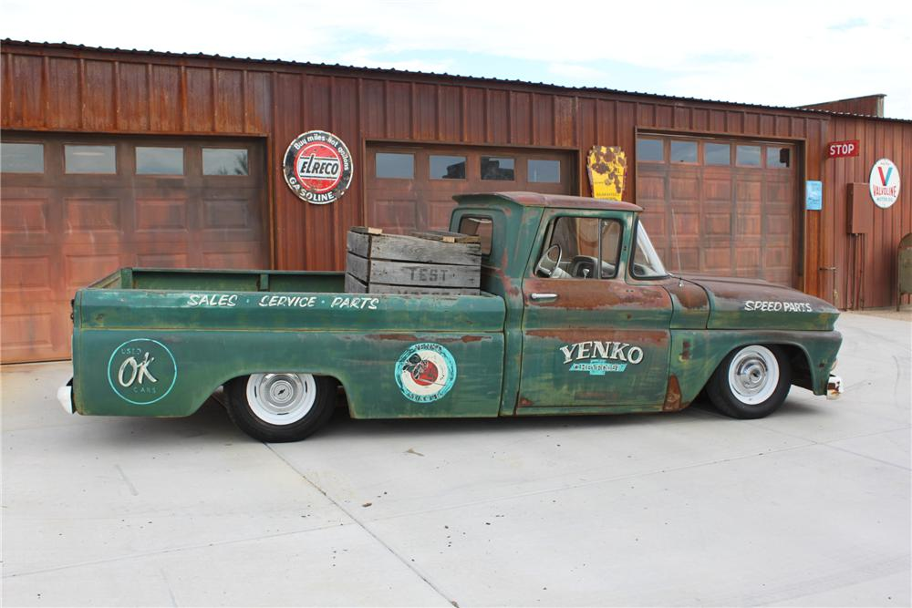 1963 CHEVROLET C-10 CUSTOM PICKUP - Side Profile - 138348