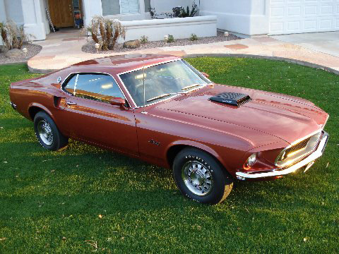 1969 FORD MUSTANG 428 SCJ FASTBACK - Front 3/4 - 138358