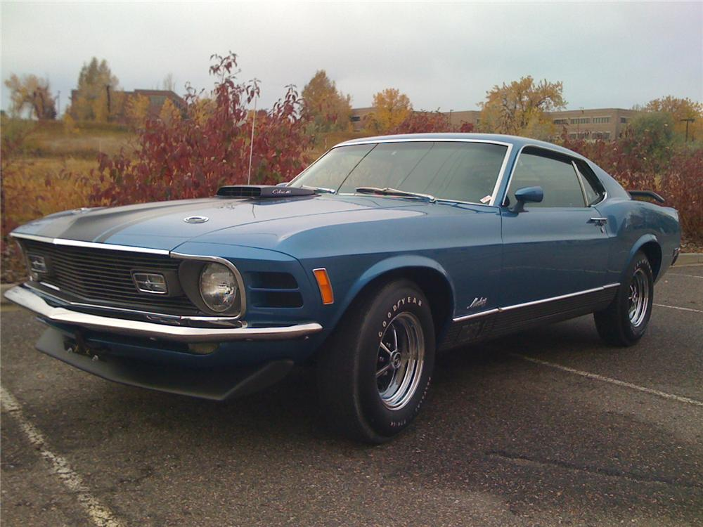 1970 FORD MUSTANG MACH 1 428 CJ FASTBACK - Front 3/4 - 138359