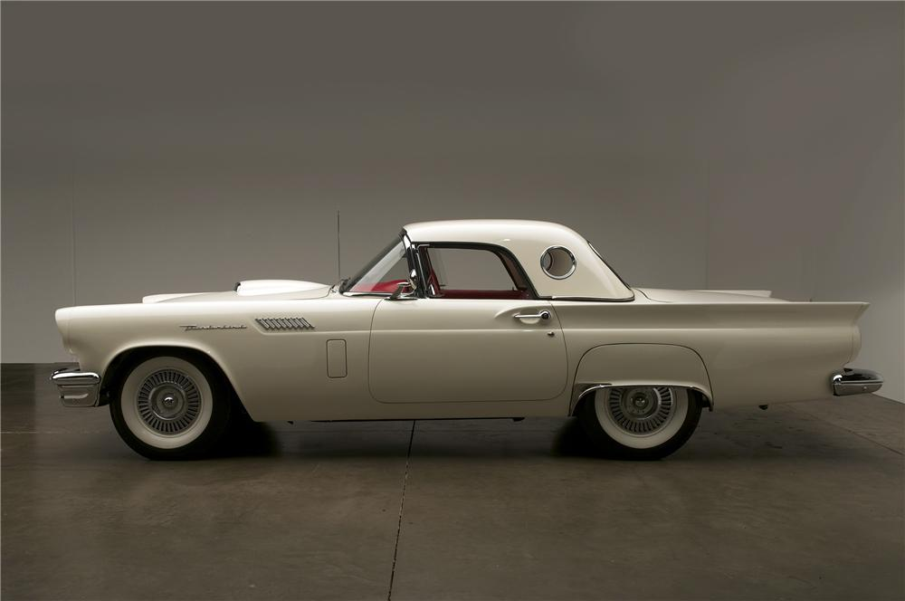 1957 FORD THUNDERBIRD F CONVERTIBLE - Side Profile - 138380