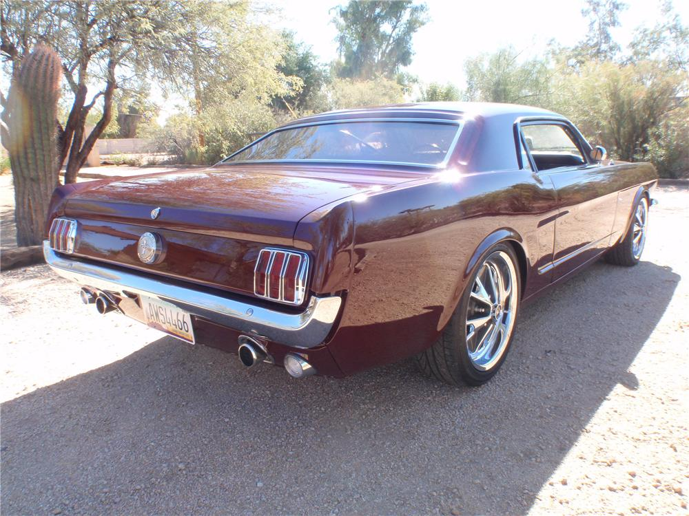 1966 FORD MUSTANG CUSTOM 2 DOOR COUPE - Rear 3/4 - 138385
