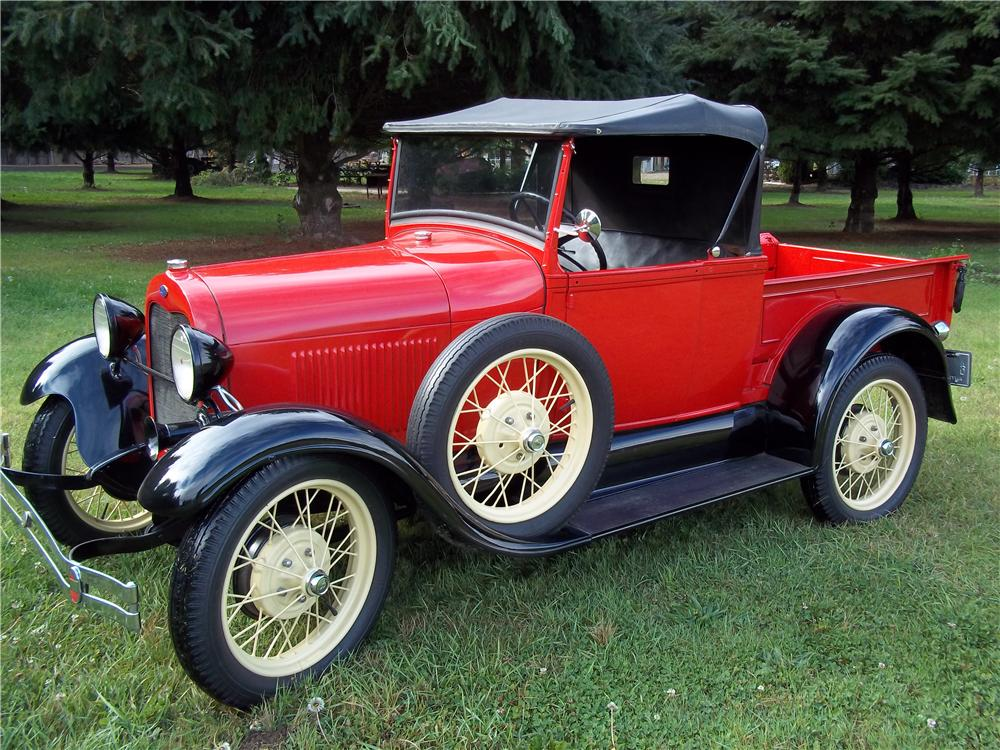 1928 FORD ROADSTER PICKUP - Side Profile - 138390