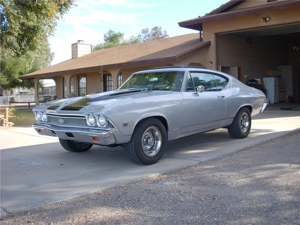 1968 CHEVROLET CHEVELLE CUSTOM 2 DOOR COUPE - Front 3/4 - 138398