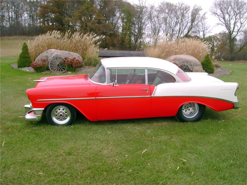 1956 CHEVROLET 210 CUSTOM 2 DOOR HARDTOP - Side Profile - 138408