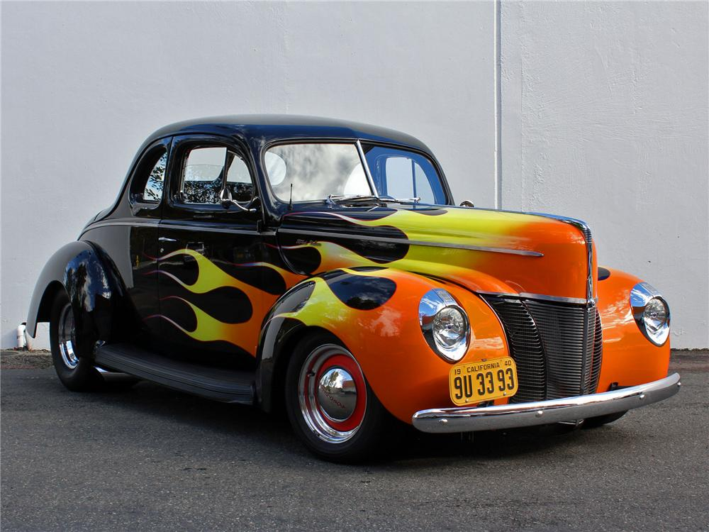1940 FORD DELUXE CUSTOM 2 DOOR COUPE - Front 3/4 - 138415