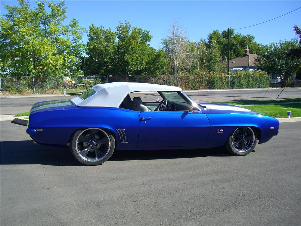 1969 CHEVROLET CAMARO CUSTOM CONVERTIBLE - Side Profile - 138445