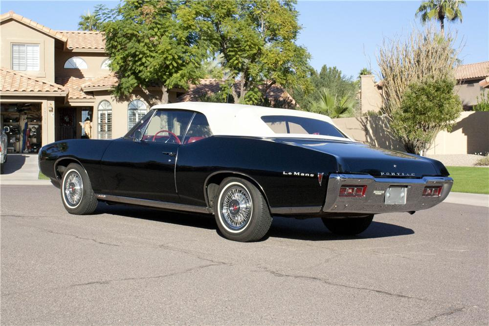 1968 PONTIAC LEMANS CONVERTIBLE - Rear 3/4 - 138462